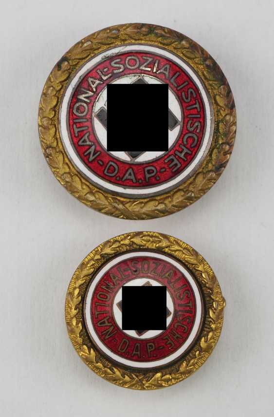 Golden of the Nazi party, a Large and Small version badge. - photo 1