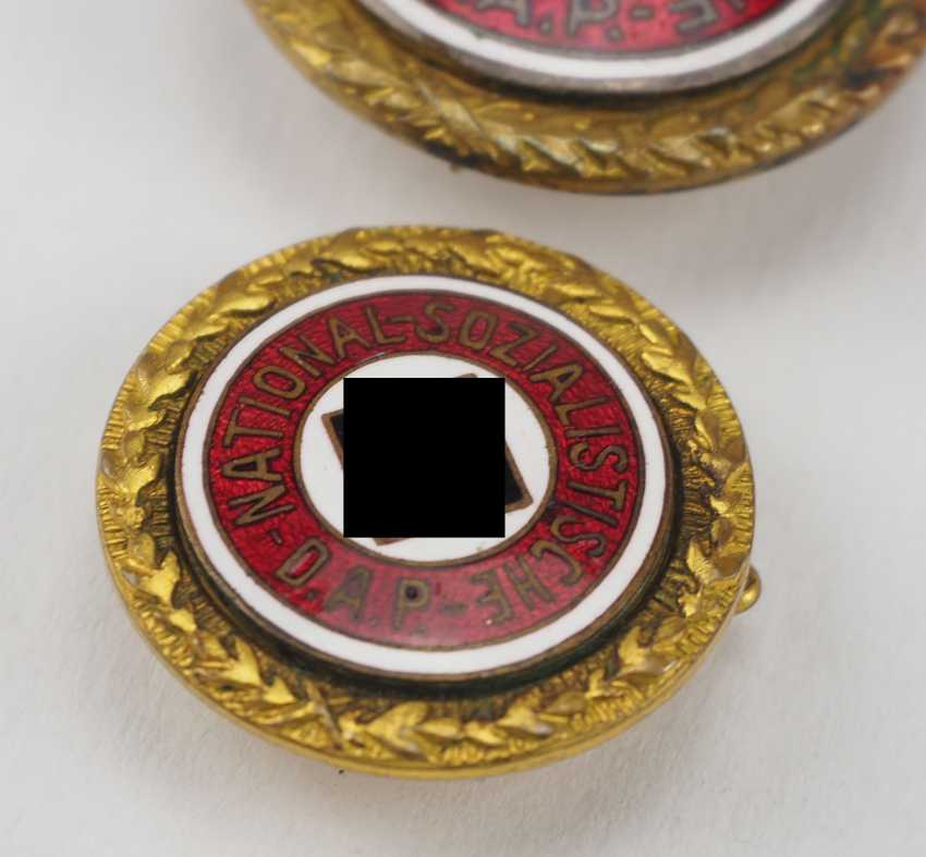 Golden of the Nazi party, a Large and Small version badge. - photo 2