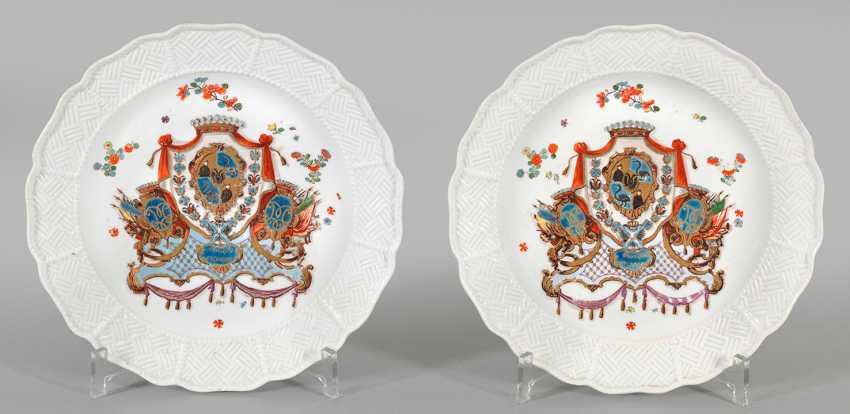 Pair of crest plates from the