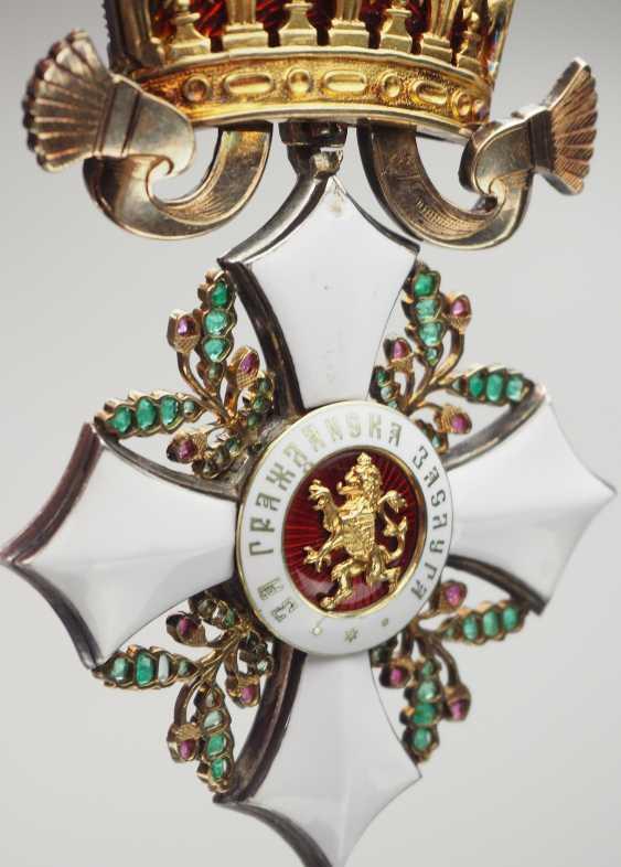 Bulgaria: Civil Order Of Merit, 2. Model, Grand cross Bijou in brilliant. - photo 8