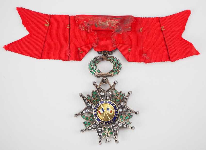 France: order of the Legion of honor, 9. Model (1870-1951), knights cross in brilliant-cut diamonds. - photo 3
