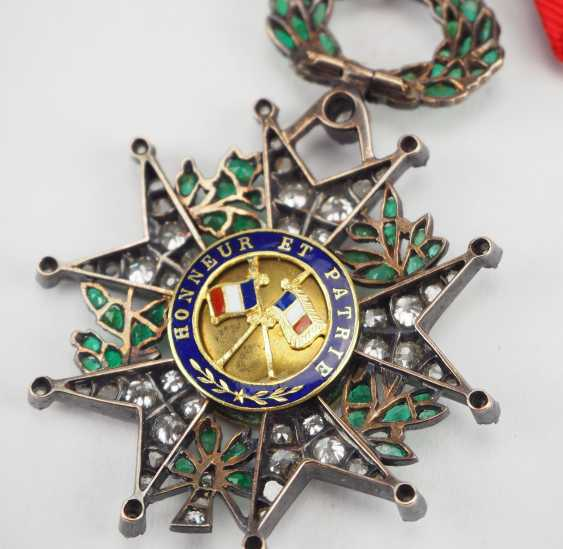 France: order of the Legion of honor, 9. Model (1870-1951), knights cross in brilliant-cut diamonds. - photo 4