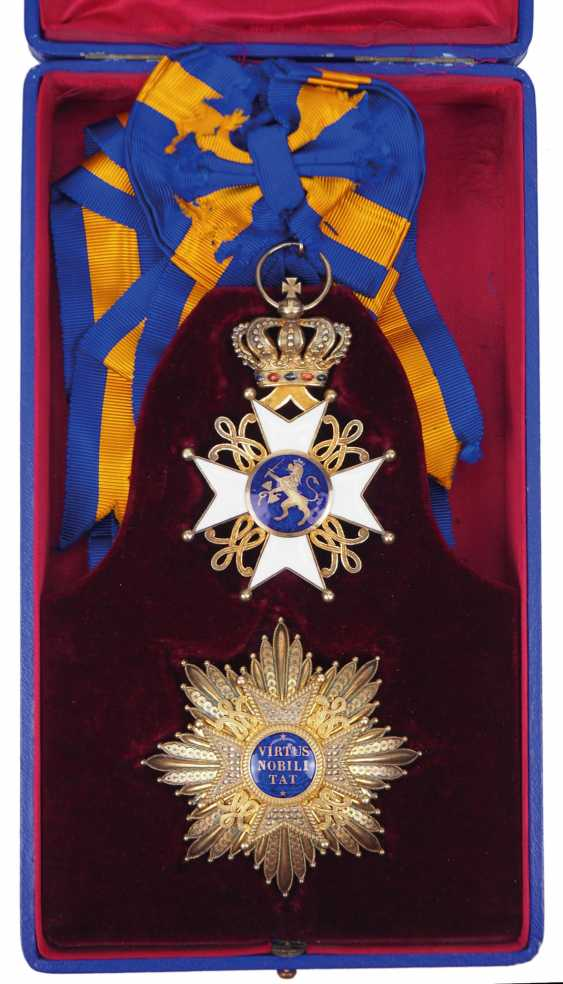 Netherlands: order of the Netherlands lion, Grand cross set, in a case. - photo 1