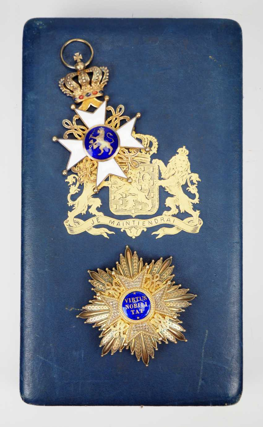 Netherlands: order of the Netherlands lion, Grand cross set, in a case. - photo 2