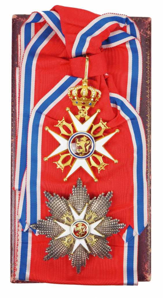 Norway: St. Olav-Order, 3. Model (since 1937), Grand cross set, in a case. - photo 1