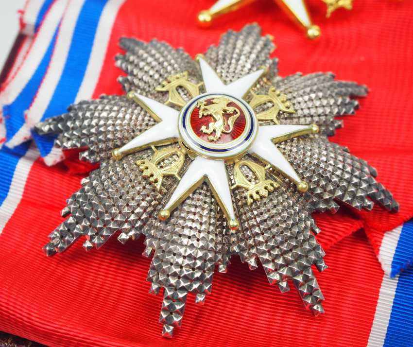 Norway: St. Olav-Order, 3. Model (since 1937), Grand cross set, in a case. - photo 2