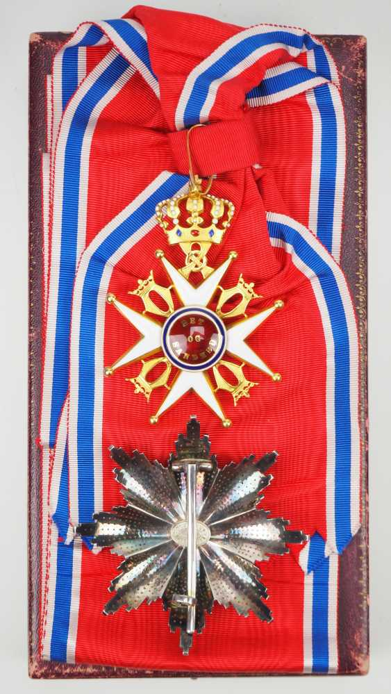 Norway: St. Olav-Order, 3. Model (since 1937), Grand cross set, in a case. - photo 3