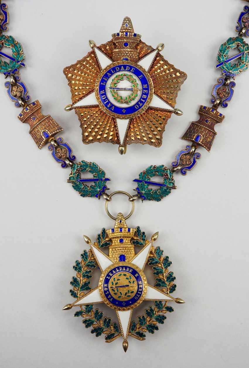 PortugaLänge: Militärischer Orden vom Turm und Schwert, 5. Modell (seit 1962), Kollane der Großkreuze, mit Stern. - photo 1