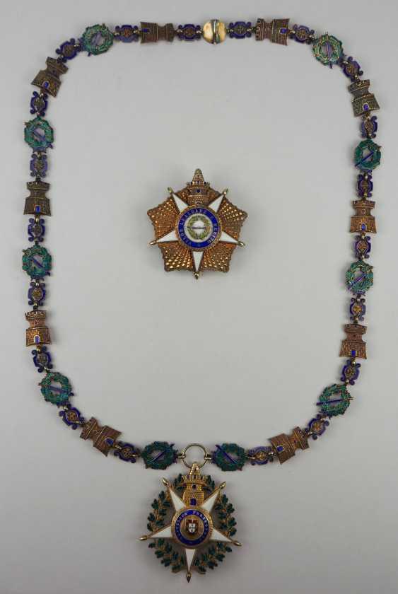 PortugaLänge: Militärischer Orden vom Turm und Schwert, 5. Modell (seit 1962), Kollane der Großkreuze, mit Stern. - photo 2