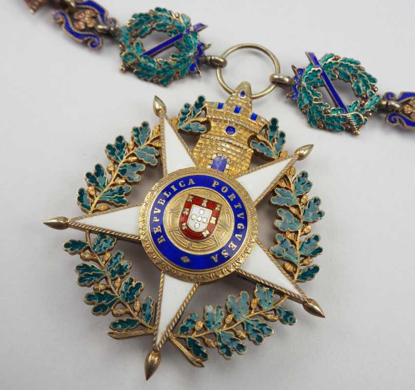 PortugaLänge: Militärischer Orden vom Turm und Schwert, 5. Modell (seit 1962), Kollane der Großkreuze, mit Stern. - photo 3