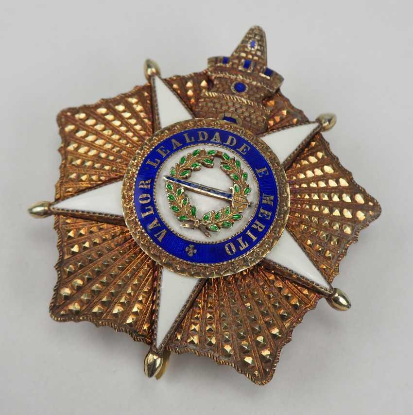 PortugaLänge: Militärischer Orden vom Turm und Schwert, 5. Modell (seit 1962), Kollane der Großkreuze, mit Stern. - photo 4