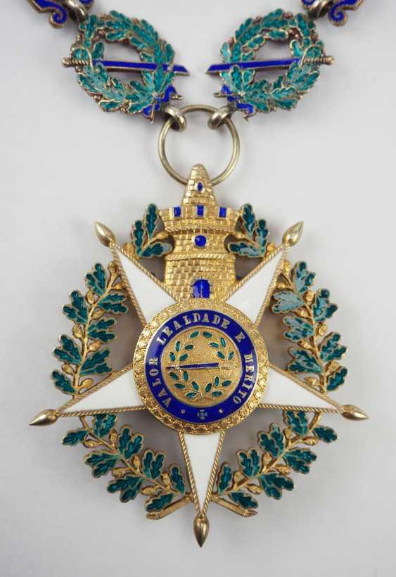 PortugaLänge: Militärischer Orden vom Turm und Schwert, 5. Modell (seit 1962), Kollane der Großkreuze, mit Stern. - photo 6