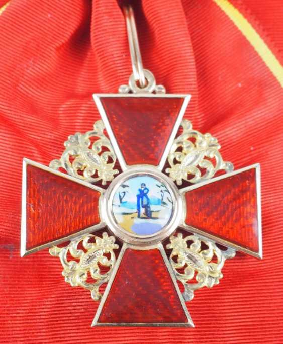 Russlan diameter: order of the hl. Anna, 2. Model (1810-1917), 1. Class Gem. - photo 2