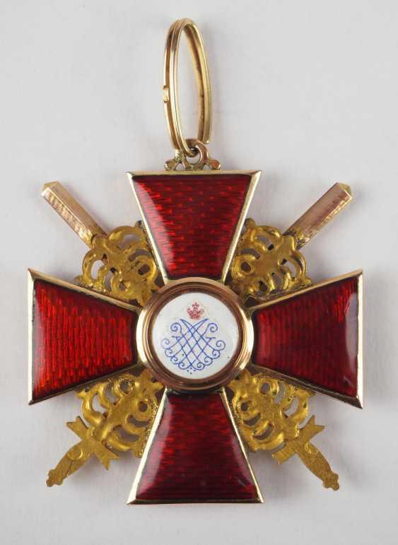 RusslanDurchmesser: Orden der hl. Anna, 2. Modell (1810-1917), 2. Klasse mit Schwertern, im Etui. - photo 4