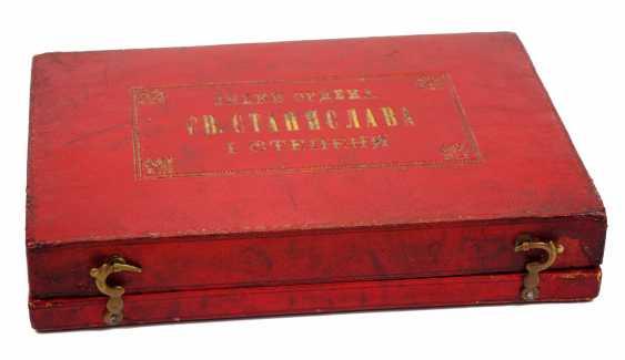 RusslanDurchmesser: Kaiserlicher und Königlicher Orden vom heiligen Stanislaus, 2. Modell, 2. Typ (ca. 1841-1917), 1. Klasse Satz, im Etui. - photo 4