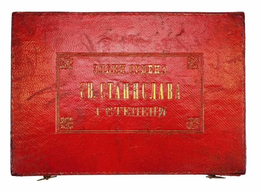 RusslanDurchmesser: Kaiserlicher und Königlicher Orden vom heiligen Stanislaus, 2. Modell, 2. Typ (ca. 1841-1917), 1. Klasse Satz, im Etui. - photo 5