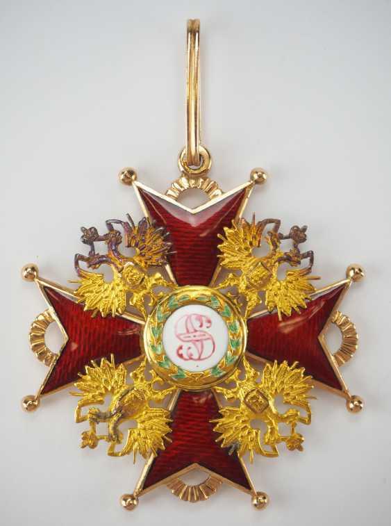RusslanDurchmesser: Kaiserlicher und Königlicher Orden vom heiligen Stanislaus, 2. Modell, 2. Typ (ca. 1841-1917), 1. Klasse Satz, im Etui. - photo 10