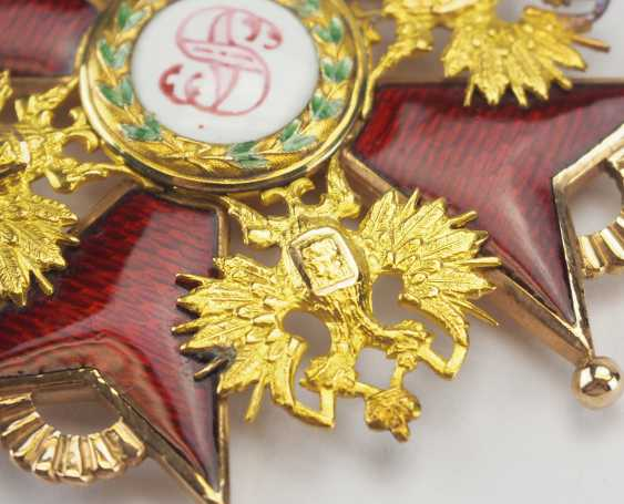 RusslanDurchmesser: Kaiserlicher und Königlicher Orden vom heiligen Stanislaus, 2. Modell, 2. Typ (ca. 1841-1917), 1. Klasse Satz, im Etui. - photo 11