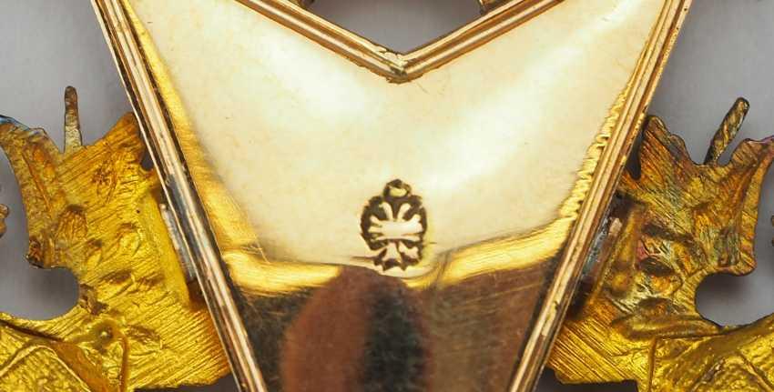 RusslanDurchmesser: Kaiserlicher und Königlicher Orden vom heiligen Stanislaus, 2. Modell, 2. Typ (ca. 1841-1917), 1. Klasse Satz, im Etui. - photo 14