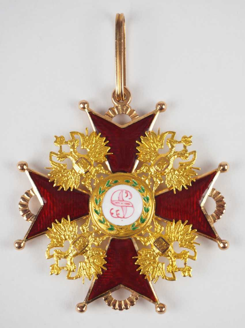 Russlan diameter: Imperial and Royal order of Saint Stanislaus, 2. Model, 2. Type (approx. 1841-1917), 1. Class Gem. - photo 1