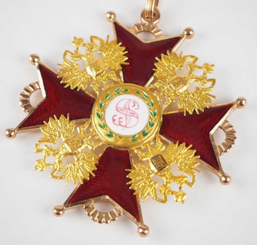 Russlan diameter: Imperial and Royal order of Saint Stanislaus, 2. Model, 2. Type (approx. 1841-1917), 1. Class Gem. - photo 2