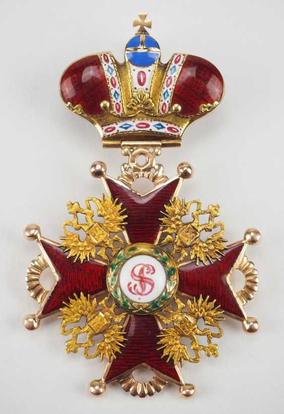 Russlan diameter: Imperial and Royal order of Saint Stanislaus, 2. Model, 2. Type (approx. 1841-1917), 2. Class with crown. - photo 1