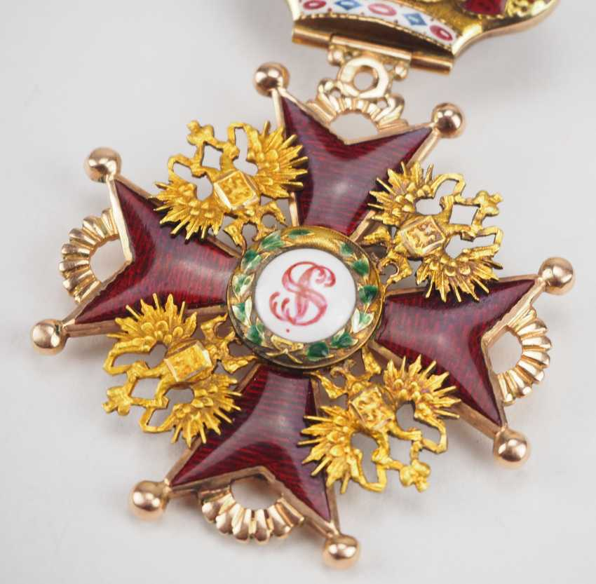 Russlan diameter: Imperial and Royal order of Saint Stanislaus, 2. Model, 2. Type (approx. 1841-1917), 2. Class with crown. - photo 2