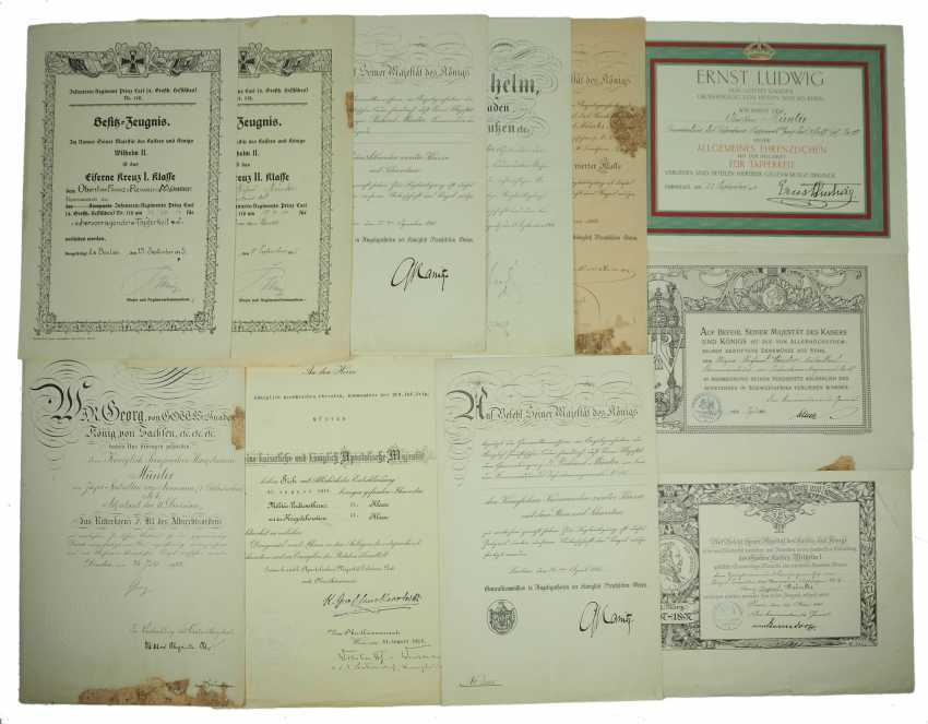 """Hesse: deed estate of the commander of the infantry regiment """"Prince Carl"""" (4. Wholesaler. Hessisches) No. 118. - photo 1"""
