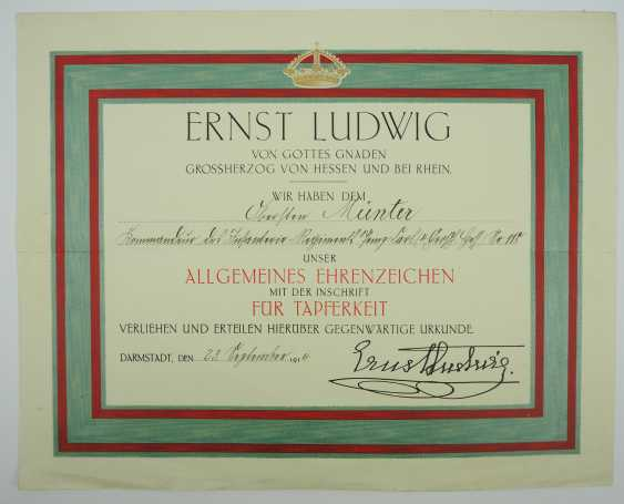 """Hesse: deed estate of the commander of the infantry regiment """"Prince Carl"""" (4. Wholesaler. Hessisches) No. 118. - photo 2"""