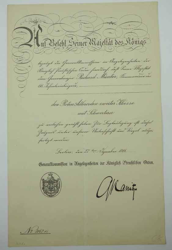 """Hesse: deed estate of the commander of the infantry regiment """"Prince Carl"""" (4. Wholesaler. Hessisches) No. 118. - photo 3"""
