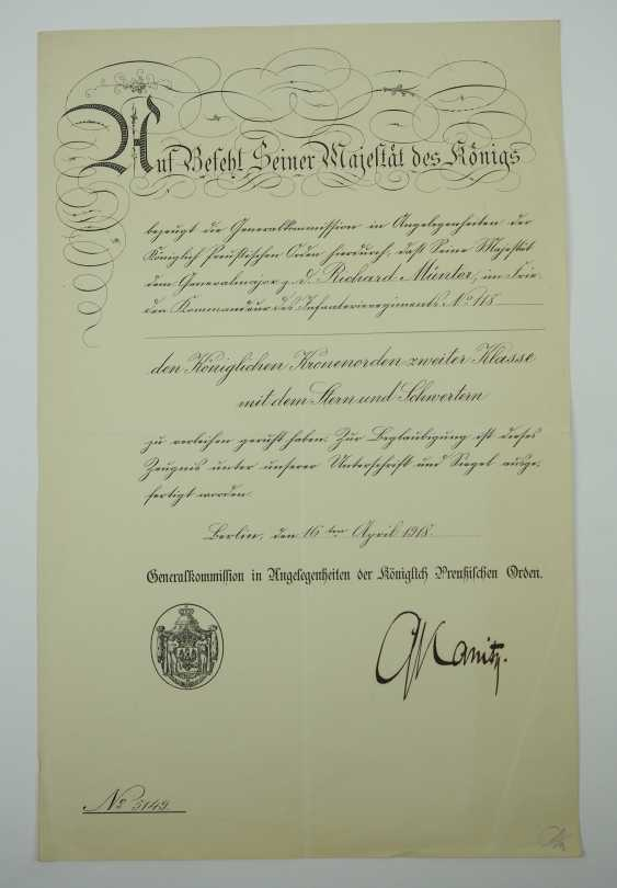 """Hesse: deed estate of the commander of the infantry regiment """"Prince Carl"""" (4. Wholesaler. Hessisches) No. 118. - photo 4"""