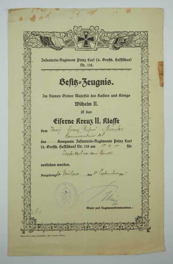 """Hesse: deed estate of the commander of the infantry regiment """"Prince Carl"""" (4. Wholesaler. Hessisches) No. 118. - photo 6"""