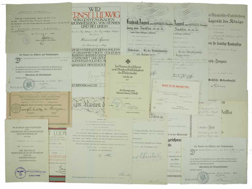 Hesse: a certificate group of a Colonel doctor, and the Country medical officer of health. - photo 1