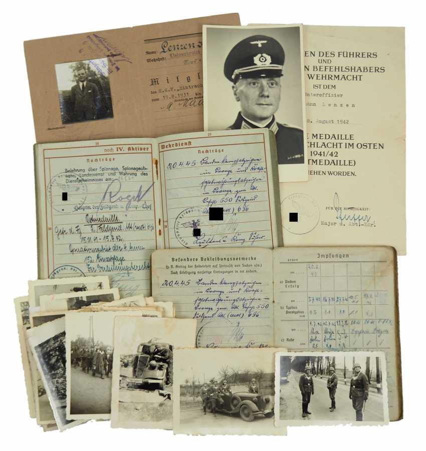 ID estate of a Sergeant of the gendarmerie Dept. (mot.) 696 / Feldg. Ers. Dept. Prague - The Band Badge. - photo 1