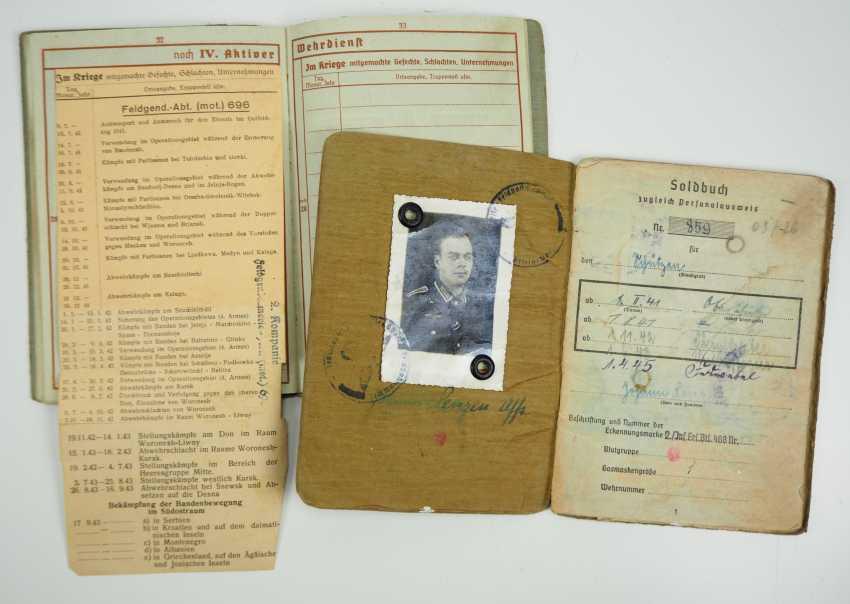 ID estate of a Sergeant of the gendarmerie Dept. (mot.) 696 / Feldg. Ers. Dept. Prague - The Band Badge. - photo 2