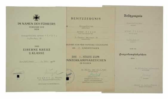 Document group of a lance-corporal of 3./ Panzer-Regiment 36. - photo 1