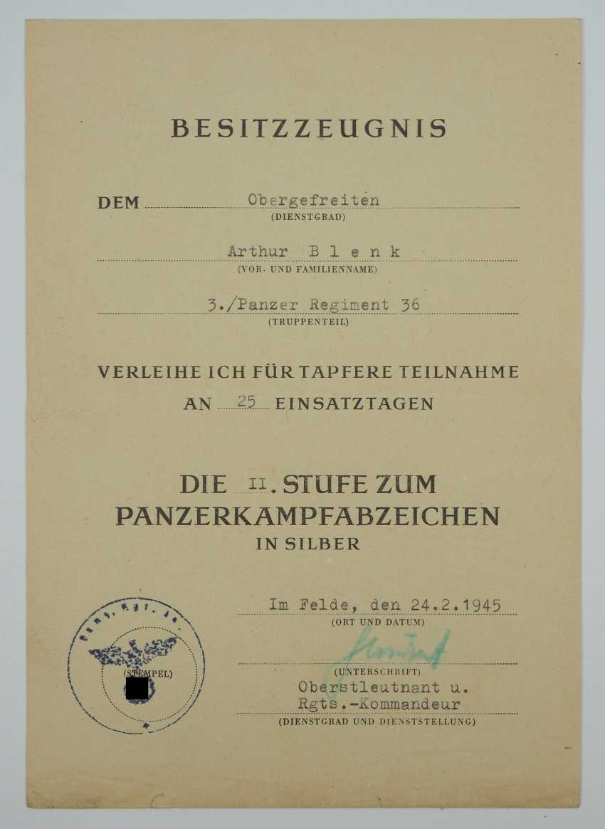 Document group of a lance-corporal of 3./ Panzer-Regiment 36. - photo 2