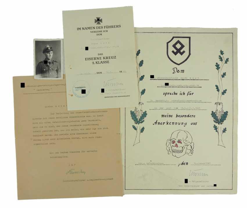 "Certificate of probate of a char leader of the 2./ SS-freiwilligen-gebirgs-Jäger-Regiment 14 ""Skanderbeg"". - photo 1"