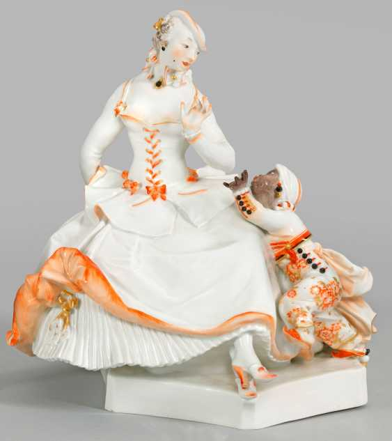 Lady with moor boy, Meissen. 1958 - photo 1