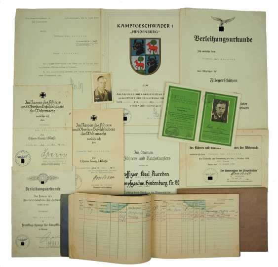 "Deed estate of a Sergeant of the fight, welded wire 1 ""Hindenburg"" / Kampfgeschwader 40. - photo 1"