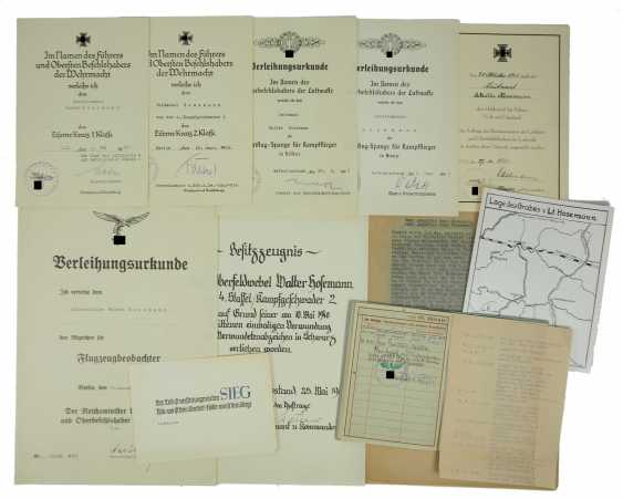 Deed estate of a Lieutenant and observer of the 4./ Battle squadron 2. - photo 1