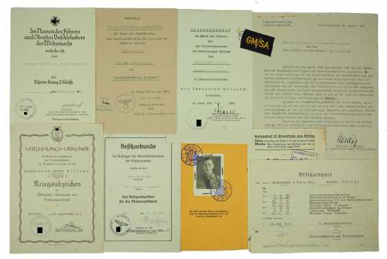 Certificate group of senior Lieutenant z. S. d. R. 3. Mine search flotilla. - photo 1