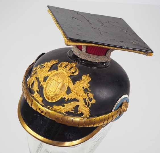 "Bavaria Tschapka for officers of the Kgl. Bavarian Ulanen-Regiment ""Kaiser Wilhelm II., king of Prussia"" No. 1. - photo 1"