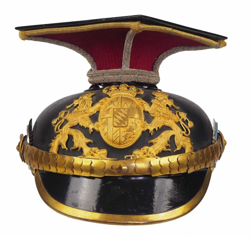 "Bavaria Tschapka for officers of the Kgl. Bavarian Ulanen-Regiment ""Kaiser Wilhelm II., king of Prussia"" No. 1. - photo 2"