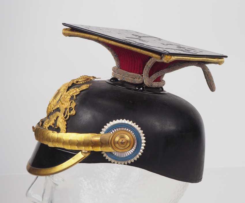 "Bavaria Tschapka for officers of the Kgl. Bavarian Ulanen-Regiment ""Kaiser Wilhelm II., king of Prussia"" No. 1. - photo 3"