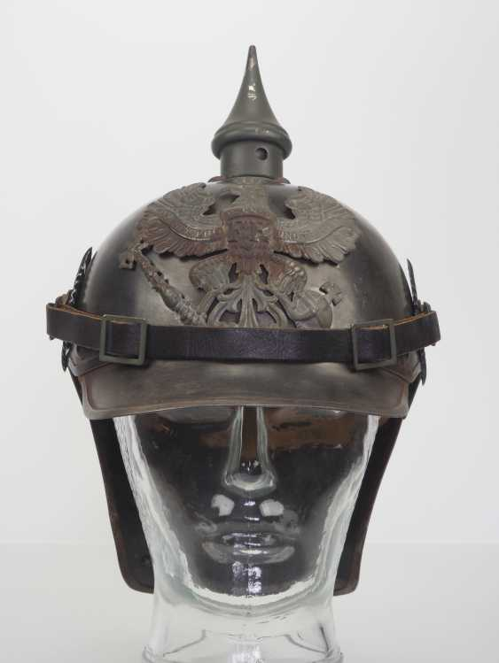 Prussia: field grey helmet for crews of the cuirassiers. - photo 2