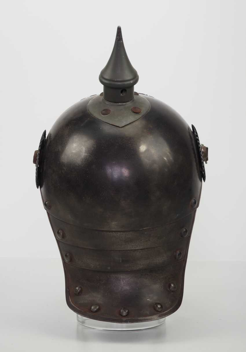 Prussia: field grey helmet for crews of the cuirassiers. - photo 4
