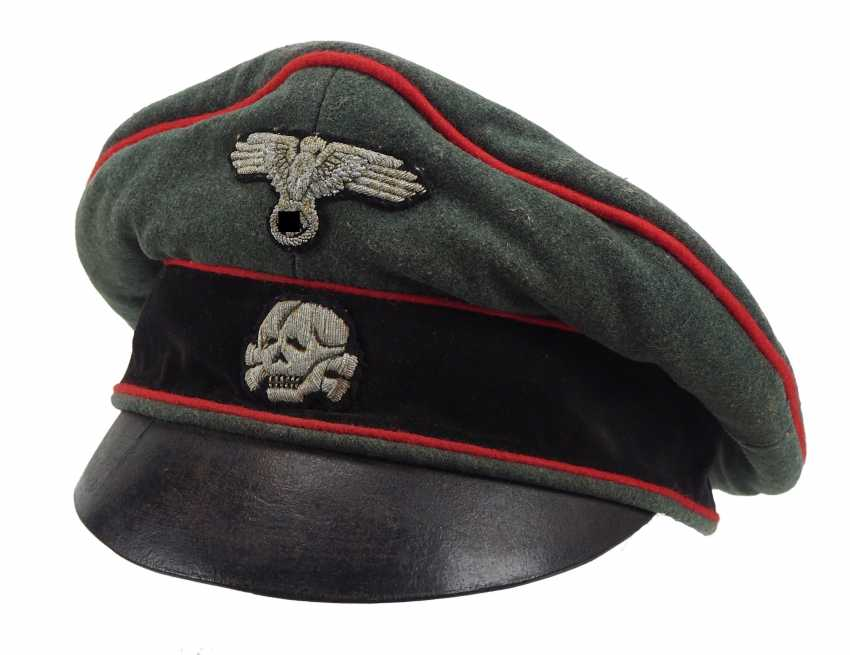 Waffen-SS: a visor cap for officers of the storm artillery. - photo 1