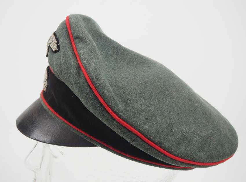 Waffen-SS: a visor cap for officers of the storm artillery. - photo 2