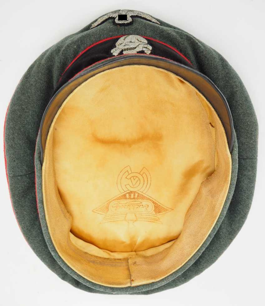 Waffen-SS: a visor cap for officers of the storm artillery. - photo 6